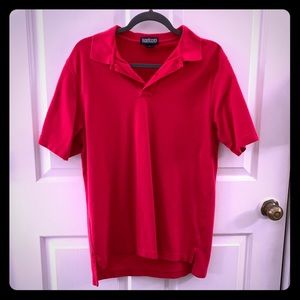Men's Red Land's End Polo